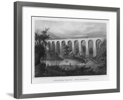 The Starucca Viaduct on the Erie Railroad--Framed Art Print