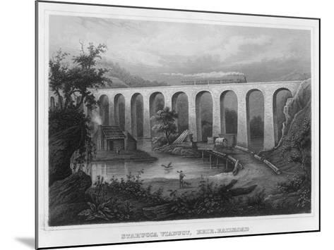 The Starucca Viaduct on the Erie Railroad--Mounted Giclee Print