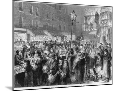The Poor of London Doing their Christmas Shopping--Mounted Giclee Print