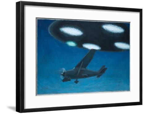 UFO Near Melbourne, Australia-Michael Buhler-Framed Art Print