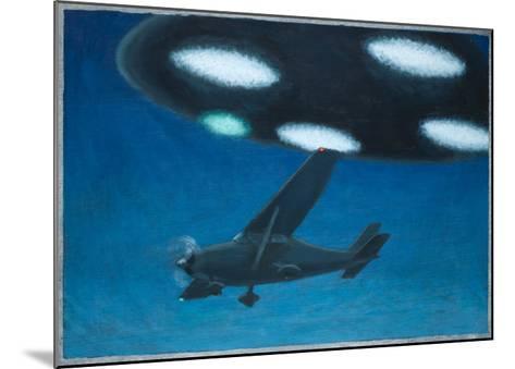 UFO Near Melbourne, Australia-Michael Buhler-Mounted Giclee Print