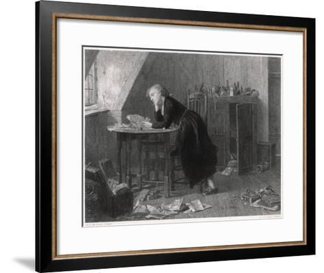 Thomas Chatterton the Young English Poet at Work--Framed Art Print