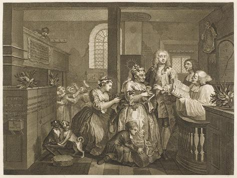 The Rake's Progress, Marriage Ceremony--Stretched Canvas Print