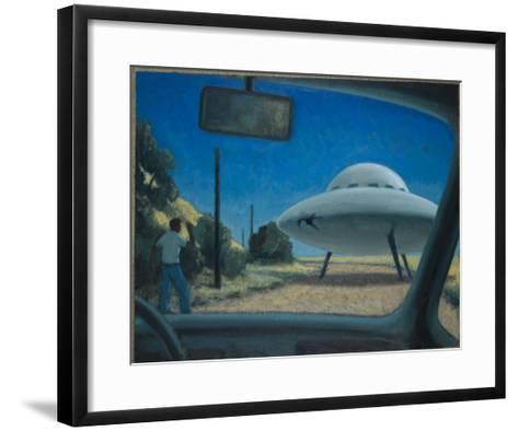 UFO Encounter-Michael Buhler-Framed Art Print