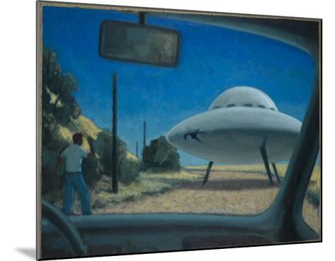 UFO Encounter-Michael Buhler-Mounted Giclee Print