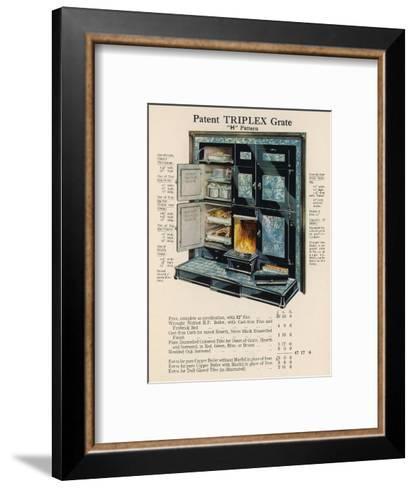 Triplex Grate and Boiler--Framed Art Print