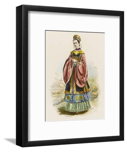 The Wife of a Chinese Mandarin in the Fine Robes Befitting Her Exalted Rank--Framed Art Print