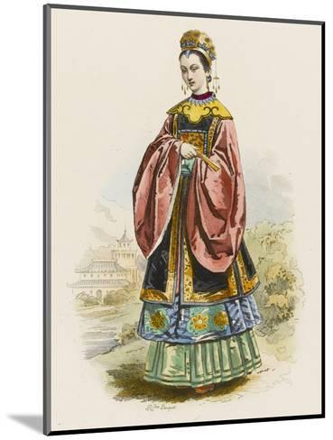 The Wife of a Chinese Mandarin in the Fine Robes Befitting Her Exalted Rank--Mounted Giclee Print