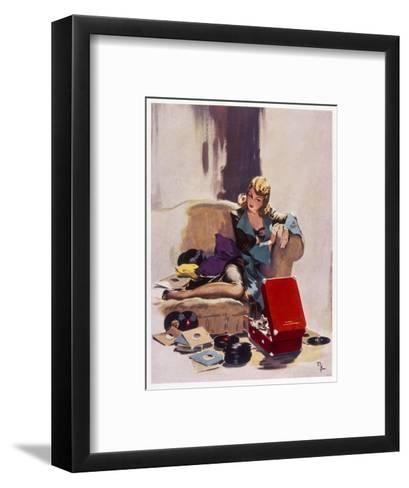 The Tune That He Loved Best-David Wright-Framed Art Print