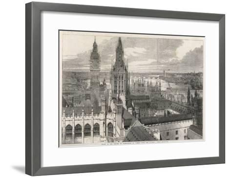 The View from the Victoria Tower of the Houses of Parliament, London--Framed Art Print