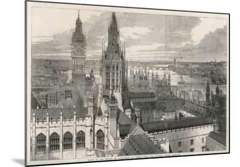 The View from the Victoria Tower of the Houses of Parliament, London--Mounted Giclee Print