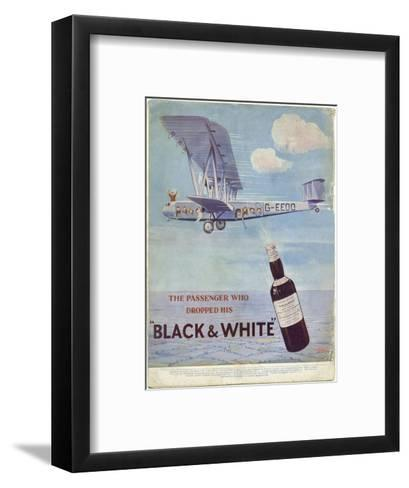"""The Passenger Who Dropped His """"Black and White""""'--Framed Art Print"""