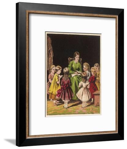 The Teacher Reads an Improving Story to the Children--Framed Art Print