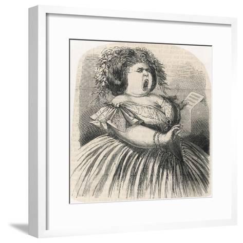 til the Fat Lady Sings--Framed Art Print