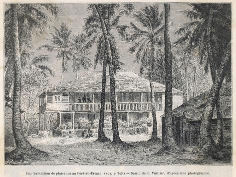 The Plantation House at Port- Au-Prince--Stretched Canvas Print
