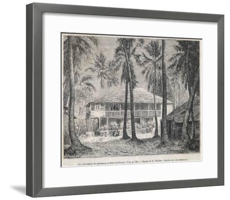 The Plantation House at Port- Au-Prince--Framed Art Print