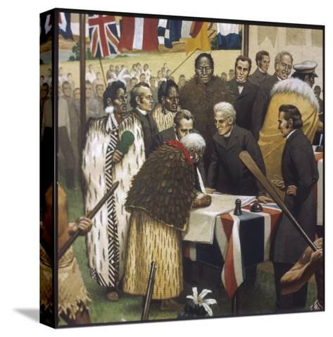 Treaty of Waitangi--Stretched Canvas Print