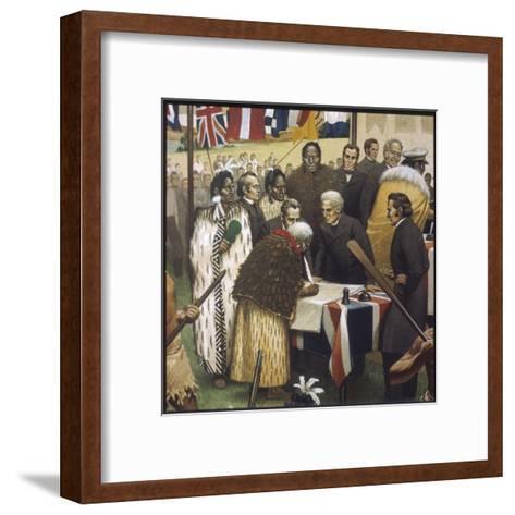 Treaty of Waitangi--Framed Art Print