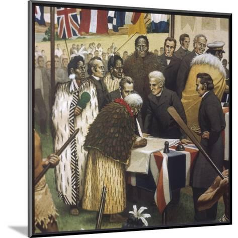 Treaty of Waitangi--Mounted Giclee Print