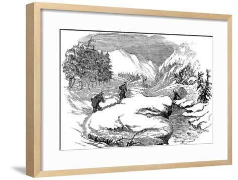Winter in the Californian Mountains, 1853--Framed Art Print