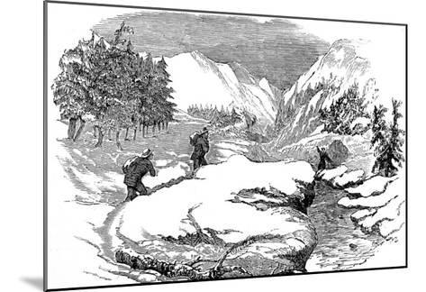 Winter in the Californian Mountains, 1853--Mounted Giclee Print