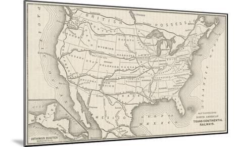 USA Railway Map--Mounted Giclee Print
