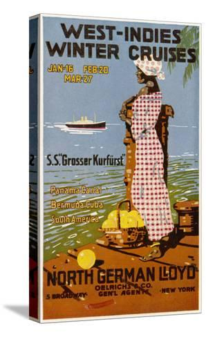 West Indies Poster--Stretched Canvas Print