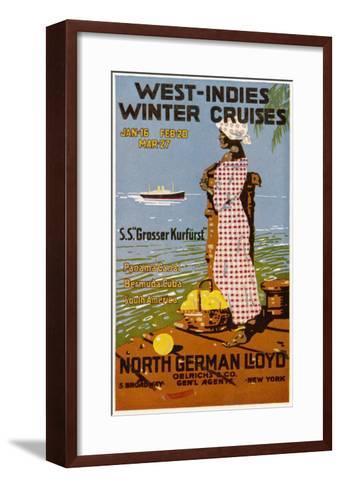West Indies Poster--Framed Art Print