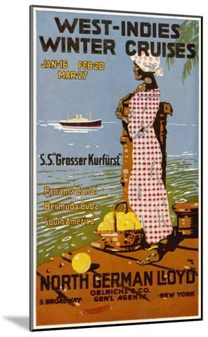 West Indies Poster--Mounted Giclee Print