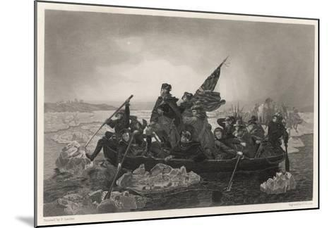 Washington and His Army Cross the Delaware River, Prior to the Battle of Trenton--Mounted Giclee Print