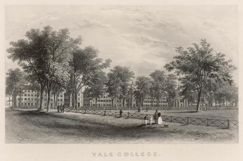 Yale College: External View--Stretched Canvas Print