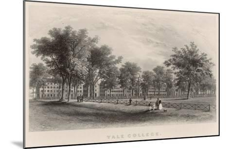 Yale College: External View--Mounted Giclee Print
