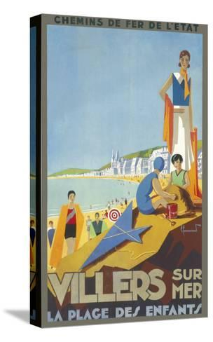 Villers-Sur-Mer Poster--Stretched Canvas Print