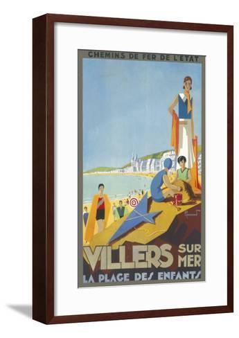 Villers-Sur-Mer Poster--Framed Art Print
