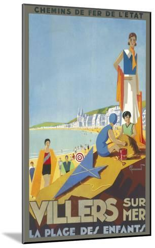 Villers-Sur-Mer Poster--Mounted Giclee Print