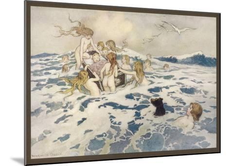 Water Babies--Mounted Giclee Print