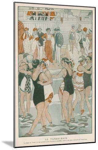Women in their Swimsuits Dance the Tango-Bain at the Lido, Venice--Mounted Giclee Print