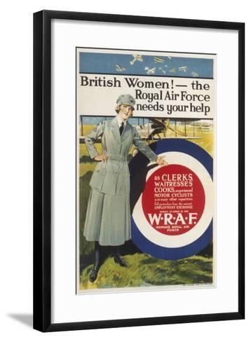 Wraf Recruitment Poster--Framed Art Print