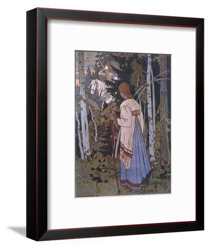 Vasilissa on Her Way to Visit the Baba Yoga--Framed Art Print