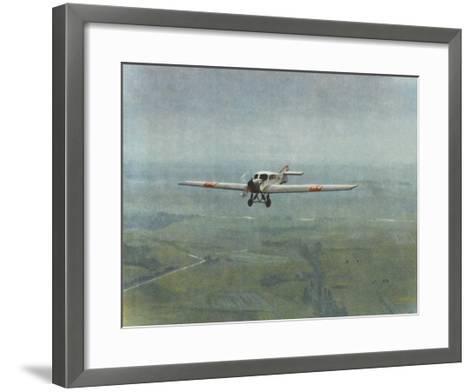 Versatile All-Metal Monoplane--Framed Art Print
