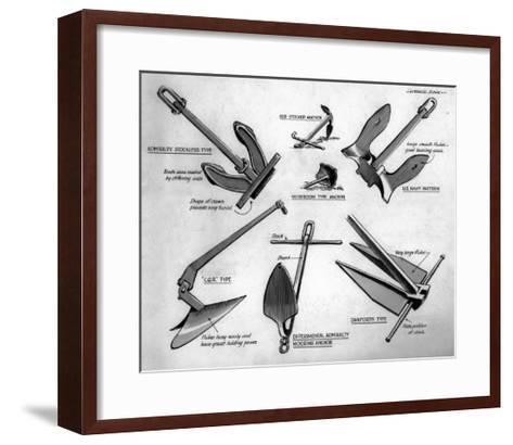 Various Anchors, December 1948--Framed Art Print