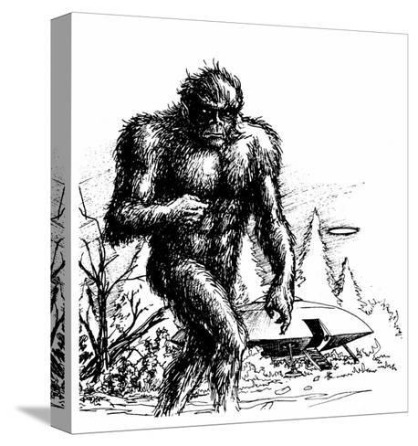 Witnesses Claim a Connection Between UFO Sightings and 'Bigfoot', Missouri--Stretched Canvas Print
