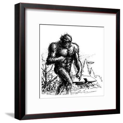 Witnesses Claim a Connection Between UFO Sightings and 'Bigfoot', Missouri--Framed Art Print