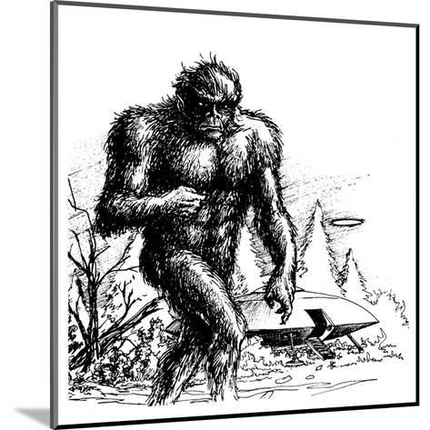 Witnesses Claim a Connection Between UFO Sightings and 'Bigfoot', Missouri--Mounted Giclee Print