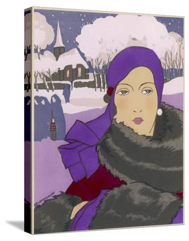 Winter Fashion--Stretched Canvas Print