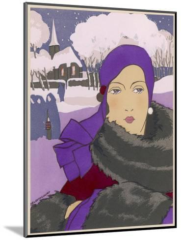 Winter Fashion--Mounted Giclee Print