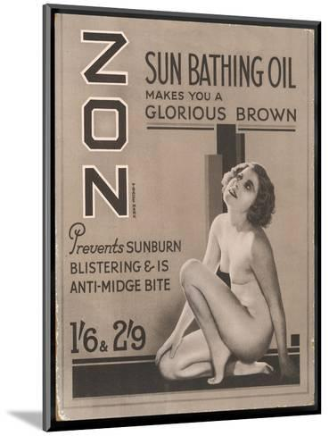 Zon Sunbathing Oil Which Makes You 'A Glorious Brown'--Mounted Giclee Print