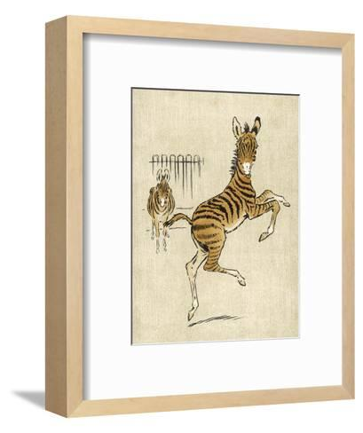 Zebra Mother and Young--Framed Art Print