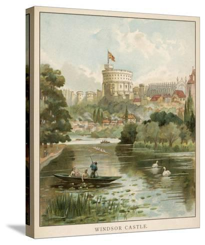 Windsor Castle, Seen across the River--Stretched Canvas Print