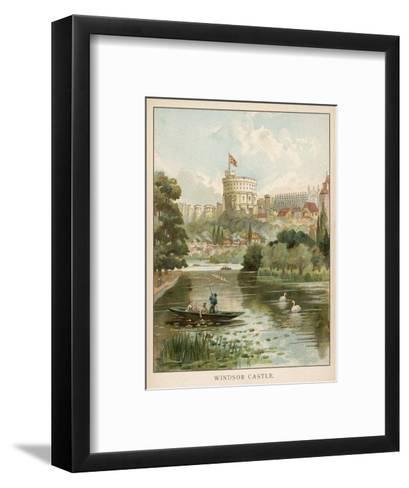 Windsor Castle, Seen across the River--Framed Art Print